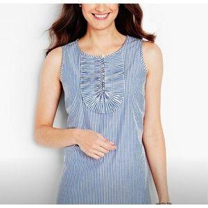 Talbot's Blue & White Striped Blouse
